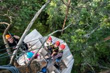 Little Rock Lake Zipline i Småland får högsta betyg