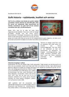 Gulfs historia – nytänkande, kvalitet och service