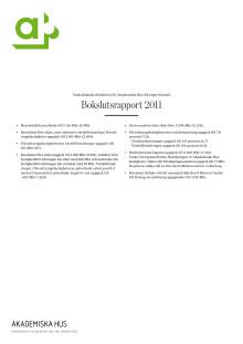 Akademiska Hus bokslutsrapport 2011