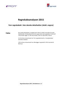 Dansk erhvervsliv - Regnskabsanalyse 2015 - detailsektoren - update september