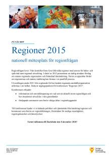 Regioner 2015 nationell mötesplats för regionfrågan
