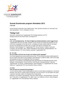 Svensk Scenkonst program Almedalen 2012