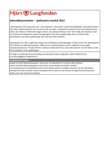 Sekundärprevention län för län