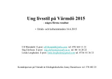 Ungas livsstil 2015 rapport