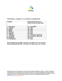 Pantstatistik 2008 - större kommuner