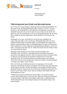 SKL och Friskolornas riksförbunds skrivelse till regeringen