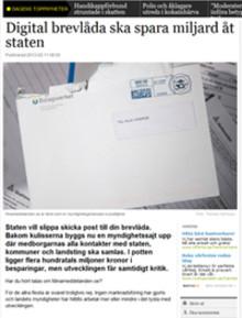 Uppmärksammat projekt i Dagens Nyheter