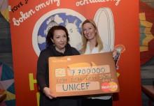 Muminsamarbete ger nära 8 miljoner kronor till UNICEF