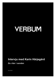 Intervju med Karin Härjegård