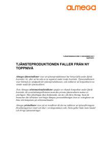 Almegas tjänsteindikator 2011 Q4