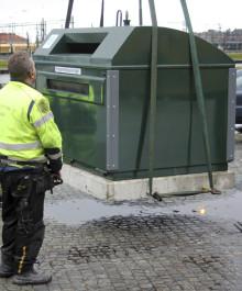 Ny återvinningsstation ställs ut vid Coop