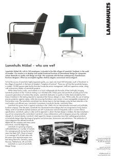 Lammhults Möbel - who are we?