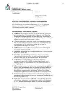 Länk till ArtDatabankens svar till utredningen