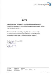 Titanias medlemsbevis VVS-företagen