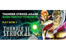 Thunderstruck II now on HarryCasino.com