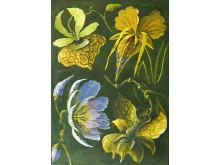 Karl Axel Pehrson: Blomsterbild. U.å. Emalj på plåt