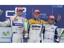 Marcus Ericsson överst på prispallen