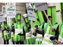 Öl med besk eftersmak - ActionAid kampanjar på kvartersfest