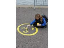 Hernesaaren risteilylaiturin maalausta 16.5.2012