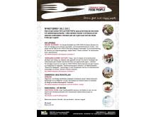 FOOD PEOPLE Nyhetsbrev Juli 2011