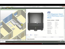 simplebim® integrated the BIMobject portal in the software - screenshot from YouTube movie