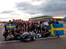 Vinnarteamet i Formula student 2012 på Silverstone