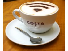 O2 gives customers free Wifi with their cappuccino at Costa