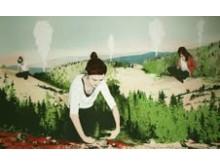 """Explorers"" av Joakim Allgulander, litografi 50 x 80 cm."