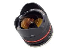 Samyang 8mm F/2,8 Sony NEX ja Samsung NX, edestä