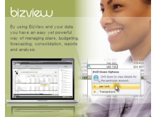 BizView - By using BizView and your data you have an easy yet powerful way of managing plans, budgeting, forecasting, consolidation, reports and analysis.