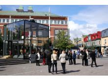 Glashuset på Rådhustorget i Umeå