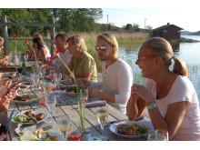 En stilla sommarkväll i Sjöboden på Djurönäset