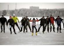 Full fart på isbanan på Vinter-Korpiaden 2009 Foto. Ulf Palm