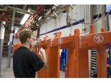 Toyota Material Handlings produktionsanläggning BT Products i Mjölby