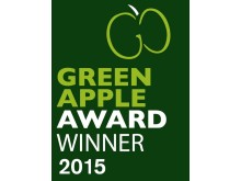 Green apple award winner logo