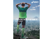 "ASICS lanserar kampanjen ""It's a big world. Go run it"""