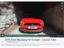 Mustangs europæiske launch video