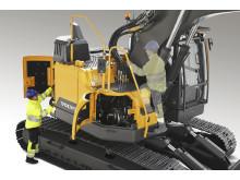 Volvo ECR145E och ECR235E - säker service
