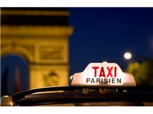 France Paris taxi sign dreamstime