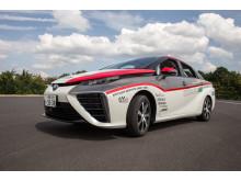 Toyota Mirai debuterar på de europeiska rallyvägarna i Tyska Rallyt