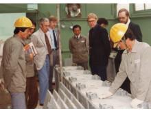Börje Blomkvist på inköpsresa i Asien på 70-talet.
