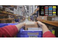 Augmented reality i brug på et lager