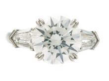 Exklusiva 23/11, Nr: 188, RING, platina, briljantslipad diamant 3,54 ct