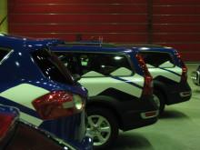 Nyfolierade bilar hos LKAB