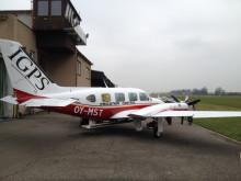 Flygplanet för rutinövervakning av utsläpp från fartygstrafiken.