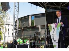 Konsumentminister Per Bolund inviger Orangeriet i Borås