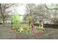 Ätbara växter i Stadsparken