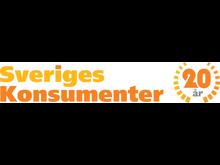 Bild på Sveriges Konsumenters jubileumslogotyp