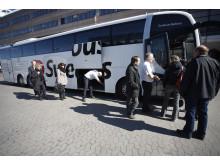 Swebus resenärer Cityterminalen