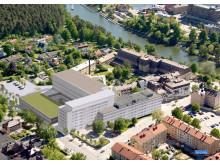 Nya Södertälje sjukhus, flygbild